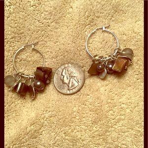 Jewelry - Multi stone silver earrings